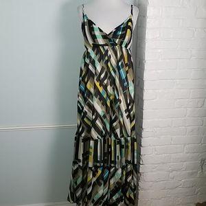 Attention Geo Print Maxi Dress